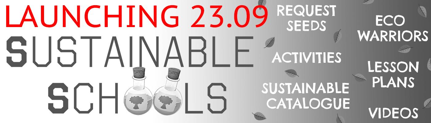 Sustainable Schools Banner COMING SOON