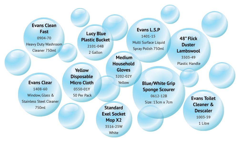 Housekeeping Bucket Bubbles