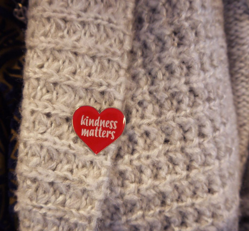 Kindness Matters- Red Box Project Pin